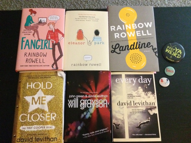 Rainbow Rowell David Levithan book signing haul